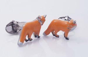 【送料無料】メンズアクセサリ― フォックスカフスボタンフォックスカフスボタンメンズカフスボタンビンテージカフリンクス3d fox cufflinks hand made fox cufflinks,mens cufflinks vintage cufflinks