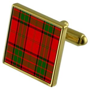 【送料無料】メンズアクセサリ― タータンチェックケースゴールドカフリンクスtartan clan maxwell gold cufflinks in engraved personalised case