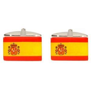【送料無料】メンズアクセサリ― スペインカフリンクスnovelty spanish flag cufflinks