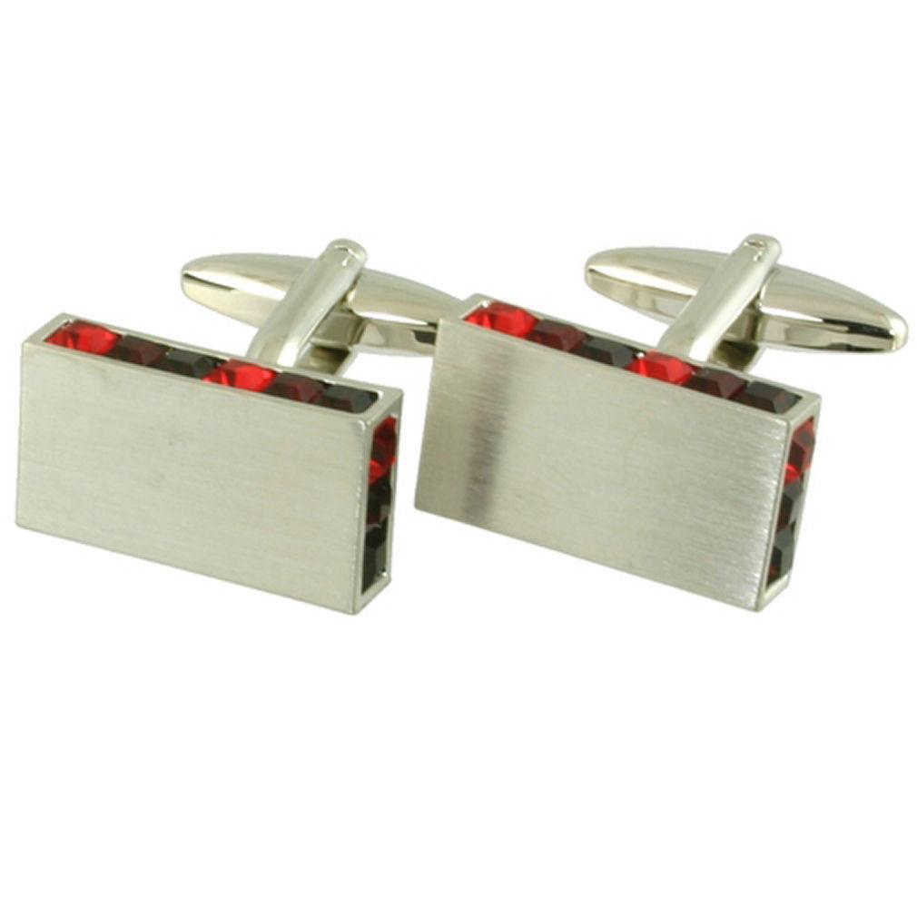 【送料無料】メンズアクセサリ― カフスボタンクリスマスカフスボタンクリスタルデザイナーエッジボックスwedding cufflinks christmas cufflinks red crystal designer edge engraved box