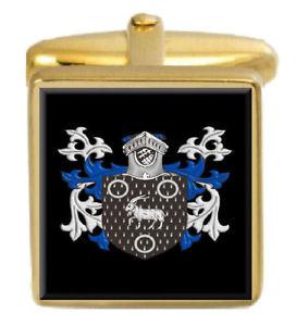 大量入荷 【送料無料】メンズアクセサリ― ロバーツウェールズカフスボタンボックスコートroberts wales family crest surname coat of arms gold cufflinks engraved box, Link Support aa6674df