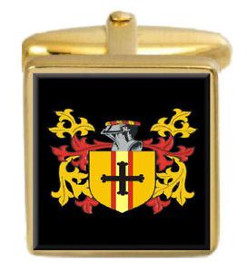 【送料無料】メンズアクセサリ― マッキントッシュスコットランドカフスボタンボックスコートmacintosh scotland family crest surname coat of arms gold cufflinks engraved box