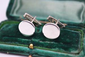 【送料無料】メンズアクセサリ― ビンテージスターリングシルバーアールデコデザインカフリンクスvintage sterling silver cufflinks with an art deco design b45
