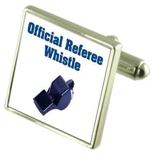【送料無料】メンズアクセサリ― メッセージボックスreferee whistle engraved keepsake message box