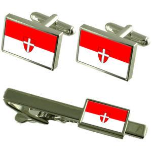 【送料無料】メンズアクセサリ― ウィーンオーストリアカフスボタンタイクリップボックスセットvienna city austria flag cufflinks tie clip box gift set