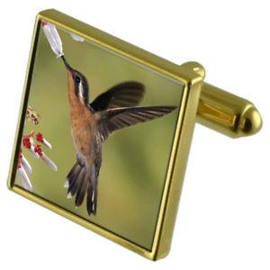 【送料無料】メンズアクセサリ― ハミングバードカフスボタンクリスタルタイクリップセットhumming bird goldtone cufflinks crystal tie clip gift set