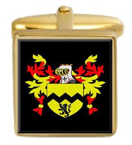 【送料無料】メンズアクセサリ― モリスウェールズカフスボタンボックスコートmorris wales family crest surname coat of arms gold cufflinks engraved box