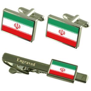 【送料無料】メンズアクセサリ― フラグカフスボタンタイクリップマッチングボックスirn flag cufflinks engraved tie clip matching box set