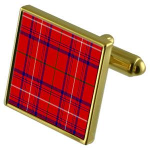 【送料無料】メンズアクセサリ― タータンチェックローズゴールドカフリンクスtartan clan rose gold cufflinks in engraved personalised case