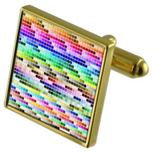 【送料無料】メンズアクセサリ― パントンカラーチャートカフスボタンクリスタルタイクリップセットpantone colour chart goldtone cufflinks crystal tie clip gift set