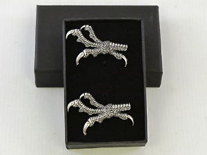 【送料無料】メンズアクセサリ― ピューターカフスボタンメンズtalons claws raptor bird of prey fine english pewter cufflinks gift mens boxed