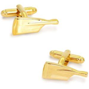 【送料無料】メンズアクセサリ― ゴールドパドルオールカフリンクスgold paddle oar cufflinks