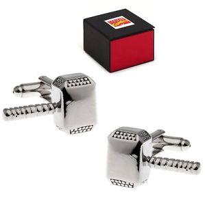 【送料無料】メンズアクセサリ― thor hammer mjolnir cufflinkstone gift box cufflinksthor hammer mjolnir cufflinks silvertone gift box cuff links