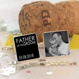 【送料無料】メンズアクセサリ― カフスボタンpersonalised father of the groom wedding photo cufflinks wedding party gift
