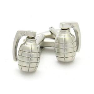 【送料無料】メンズアクセサリ― シルバーカフリンクスgrenade silver cufflinks