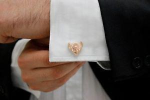 【送料無料】メンズアクセサリ― デザインローズゴールドカフリンクスアイテムexclusive design 9ct rose gold malvetebrder cufflinks gift legendary item