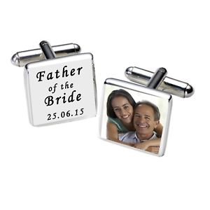 【送料無料】メンズアクセサリ― パーソナライズカフリンクスメッキpersonalised silver plated photo father of the bride cufflinks wedding gift