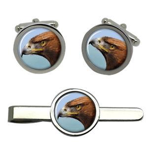 【送料無料】メンズアクセサリ― ゴールデンイーグルラウンドタイクリップセットgolden eagle round cufflink and tie clip set
