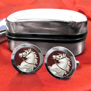 【送料無料】メンズアクセサリ― カフスボタンボックスwhite horse cufflinks amp; box