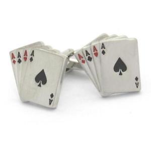 【送料無料】メンズアクセサリ― ポーカーエースカードカフリンクスpoker ace playing cards cufflinks