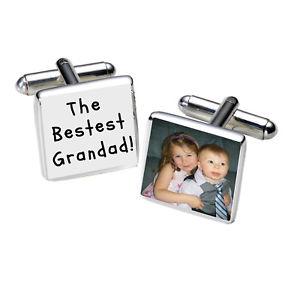【送料無料】メンズアクセサリ― フォトカフリンクス listingpersonalised the bestest grandad silver plated photo cufflinks great gift