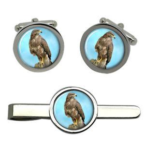 【送料無料】メンズアクセサリ― タイクリップセットbuzzard round cufflink and tie clip set