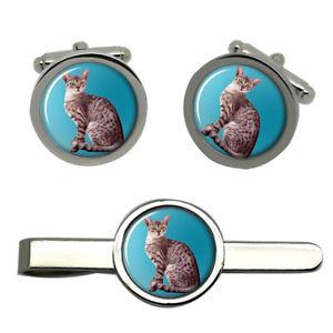 【送料無料】メンズアクセサリ― エジプシャンマウタイクリップセットegyptian mau cat round cufflink and tie clip set