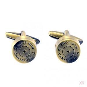 【送料無料】メンズアクセサリ― メンズカフスボタンカフメンズウェディングリンクカートリッジカフリンクス6x mens cufflinks bullet cuff links cartridge cufflinks for mens wedding gifts