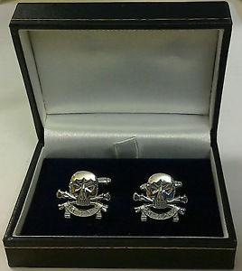 【送料無料】メンズアクセサリ― カフスボタンホワイトメタルmilitary cufflinks white metal 1721st lancers
