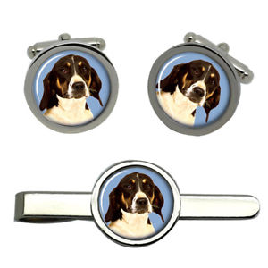 【送料無料】メンズアクセサリ― アメリカラウンドタイクリップセットamerican foxhound dog round cufflink and tie clip set