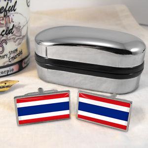 【送料無料】メンズアクセサリ― タイカフスボタンボックスthailand flag cufflinks amp; box