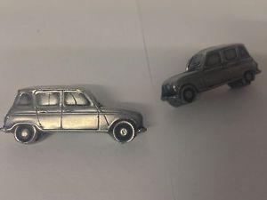 【送料無料】メンズアクセサリ― ルノーカフスボタンピューターカフスボタンrenault 4 3d cufflinks classic car pewter effect cufflinks ref207