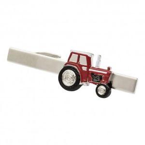 【送料無料】メンズアクセサリ― トタータイバータイクリップred tractor tie bar tie clip