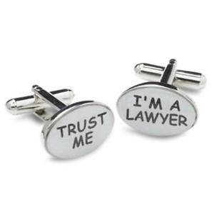 【送料無料】メンズアクセサリ― カフリンクスtrust me lawyer cufflinks