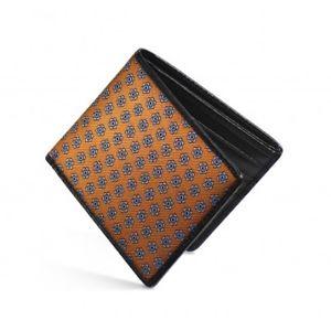 【送料無料】メンズアクセサリ― レザーオレンジシルクdalvey rfid wallet luxury leather amp; orange madder silk