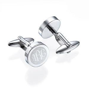 【送料無料】メンズアクセサリ― ステンレススチールモノグラムカフスボタンアメリカfathers day gifts stainless steel monogram cufflinks personaliz usa seller