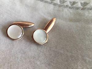 【送料無料】メンズアクセサリ― ビンテージハムゴールドパールカフスボタンカフvintage lambournes b'ham gold tone mother of pearl octagonal cufflinks cuffs