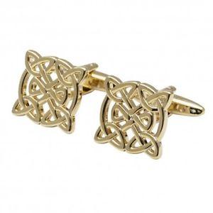 【送料無料】メンズアクセサリ― キルデアセルティックカフリンクスthe kildare gold plated celtic cufflinks