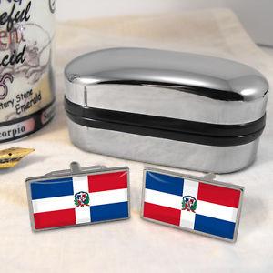 【送料無料】メンズアクセサリ― ドミニカカフスボタンボックスdominican republic flag cufflinks amp; box