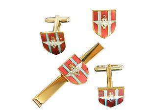 【送料無料】メンズアクセサリ― パラシュートカフスリンクバッジネクタイピンセットparachute regiment cufflinks, badge, tie clip military gift set