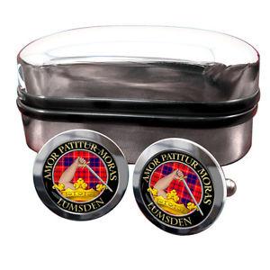【送料無料】メンズアクセサリ― スコットランドバッジカフスボタンボックスlumsden scottish clan crest badge cufflinks amp; box