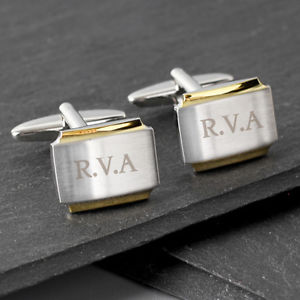 【送料無料】メンズアクセサリ― カフスリンクスマートpersonalised engraved cufflinks stylish gold plated men birthday wedding gift