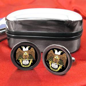 【送料無料】メンズアクセサリ― スコットランドカフスボタンボックスscottish rite 32nd masonic masons cufflinks amp; box