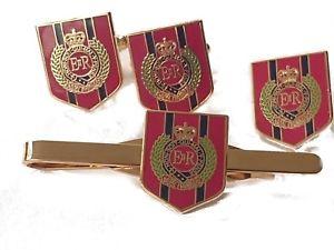 【送料無料】メンズアクセサリ― エンジニアカフスリンクバッジネクタイピンセットroyal engineers shield cufflinks, lapel badge, tie clip military gift set