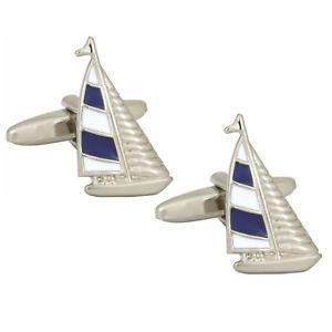 【送料無料】メンズアクセサリ― ヨットカフスボタンダルbritish made dalaco blue and white yacht cufflinks dal901293