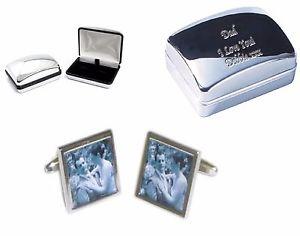 【送料無料】メンズアクセサリ― カフスボタンテキストパーソナライズケースyour photo cufflinks your text personalised engraved case wedding bday gift