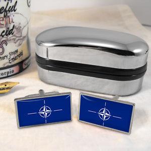 【送料無料】メンズアクセサリ― フラグカフスボタンボックスnato flag cufflinks amp; box