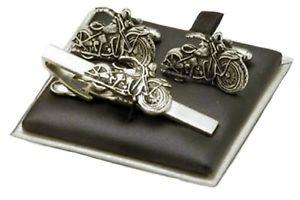 【送料無料】メンズアクセサリ― バイクタイバーセットmotorbike tie bar amp; cufflink set