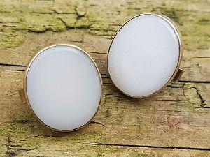 【送料無料】メンズアクセサリ― ビクトリアスプリングバックホワイトオニキスカフスボタンボタン