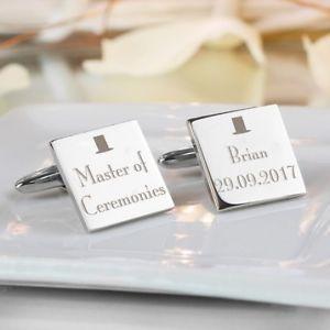 【送料無料】メンズアクセサリ― スクエアカフスボタンパーソナライズpersonalised any role wedding square cufflinks